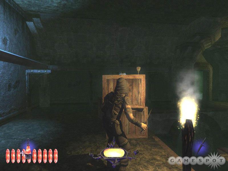 《神偷3》是一款第一人称动作游戏,由Ion Storm开发,Eidos Interactive发行,采用全新的图像引擎,游戏大多时间在昏暗的中世纪欧式城堡中进行,所以光影的表现非常出色,明暗变化以及影子的形状可以帮助玩家判断周围的形势。游戏中需要小心翼翼地潜入城堡,巧妙地躲过守卫的巡查,神不知鬼不觉地盗取重要文件或者物品。