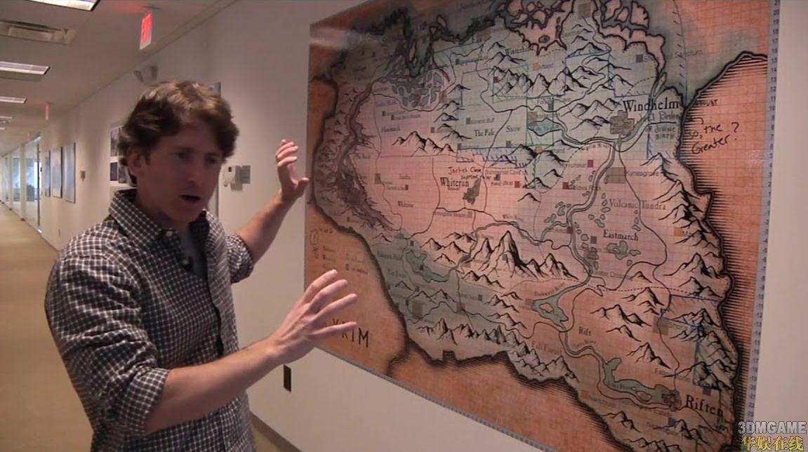 《上古卷轴5:天际》游戏主菜单和大地图披露