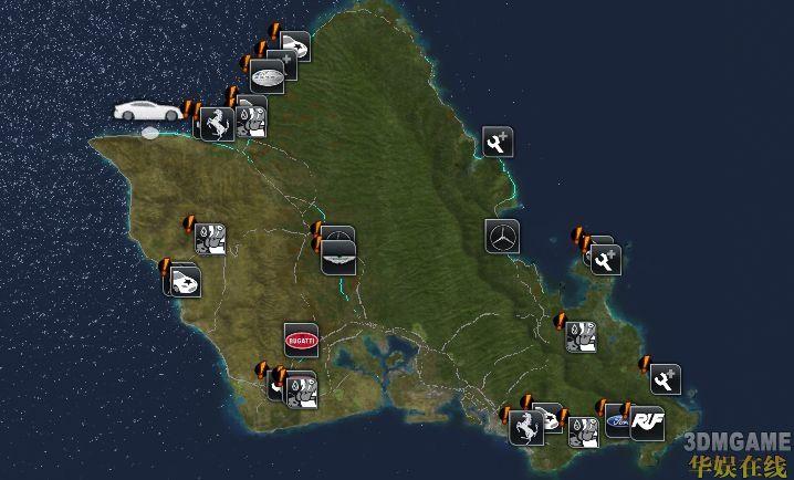 《无限试驾2》各车4s店全地图
