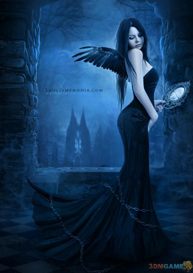 气质美女演绎独一无二的黑暗哥特风 竖