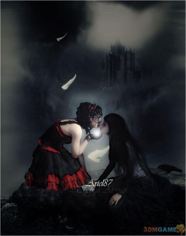 黑暗魅影 气质美女演绎独一无二的黑暗哥特风