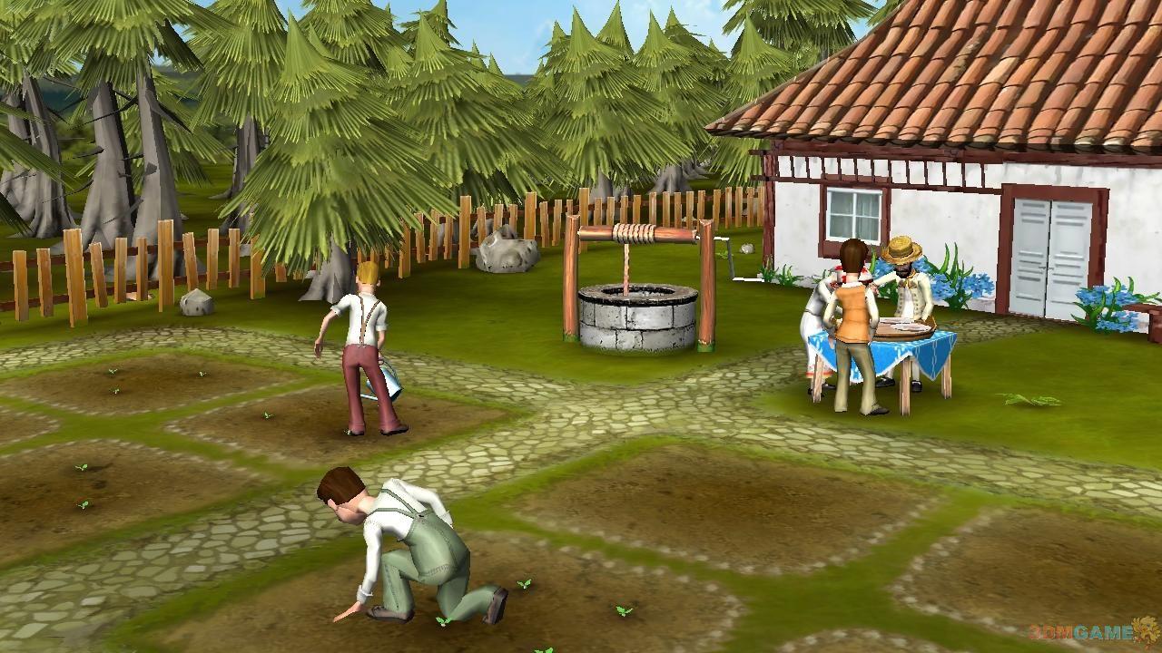 《家庭农场》是一款全3D的农场模拟游戏,游戏的时代背景被设定在了19世纪,幽静安详的河边有一个家庭农场,你将成为农场的主人。种植,饲养,建设还要养育你的家人。游戏尽可能的拟真农场的生活,带给我们质朴醇厚的田园气息。 画 面: 和众多休闲模拟经营游戏不同,这款农场题材的游戏采用全3D画面展示,虽然少了一些休闲卡通的效果,却更为真实的将农场风貌展示了出来,空瞰图视野更显广阔,游戏世界以砖瓦为基础,你更容易的设计畜栏,果园和建筑区域。 声 音: 游戏背景中的效果音为农场的工作增添了不少情趣。动物的叫声让安静的田