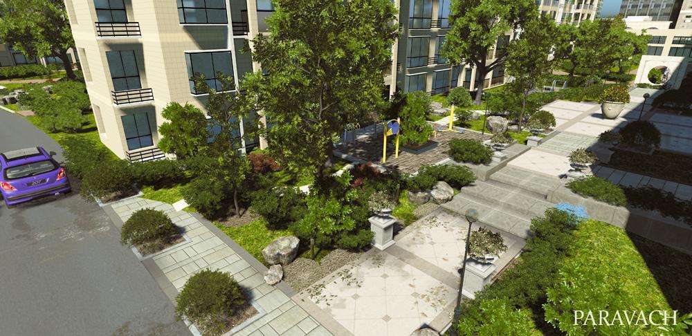 ce3引擎制作美图完美展现城市建筑与森林风貌