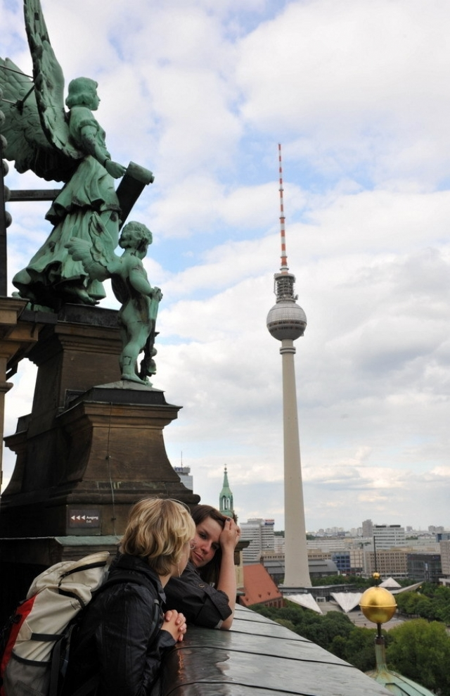 远处为柏林电视塔