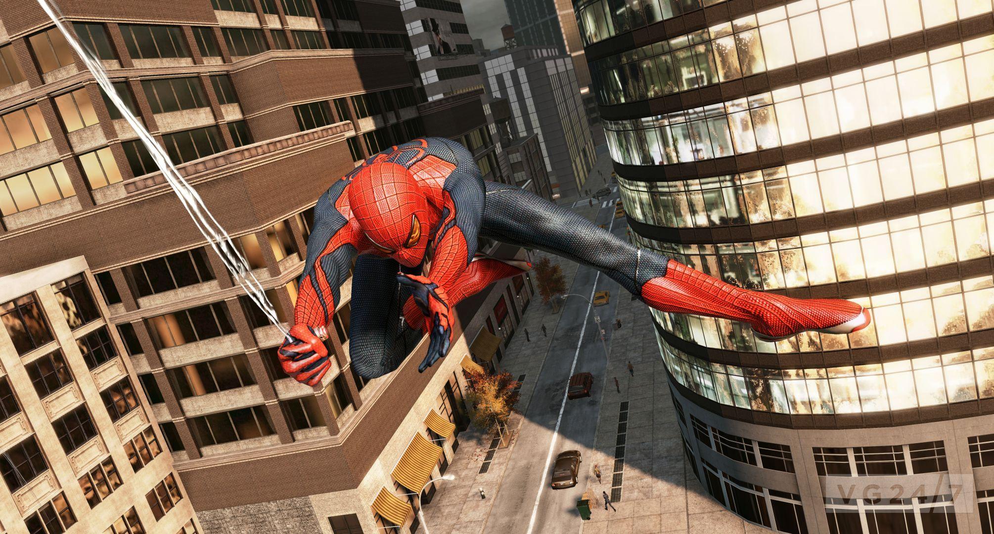 蜘蛛虐待片_E3 2012:《神奇蜘蛛侠》新图 蜘蛛侠狂虐大怪兽_www.3dmgame.com