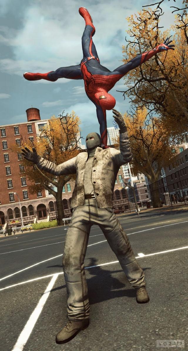 蜘蛛虐待片_E3 2012:《神奇蜘蛛侠》新图 蜘蛛侠狂虐大怪兽_第3页_www.3dmgame.com