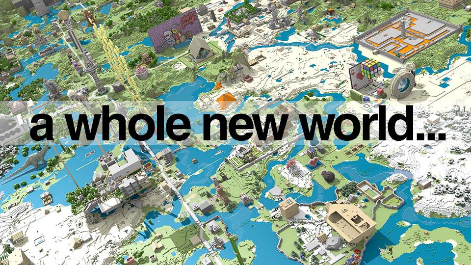 《我的世界》巨幅风景画 让颗粒化席卷全宇宙吧!