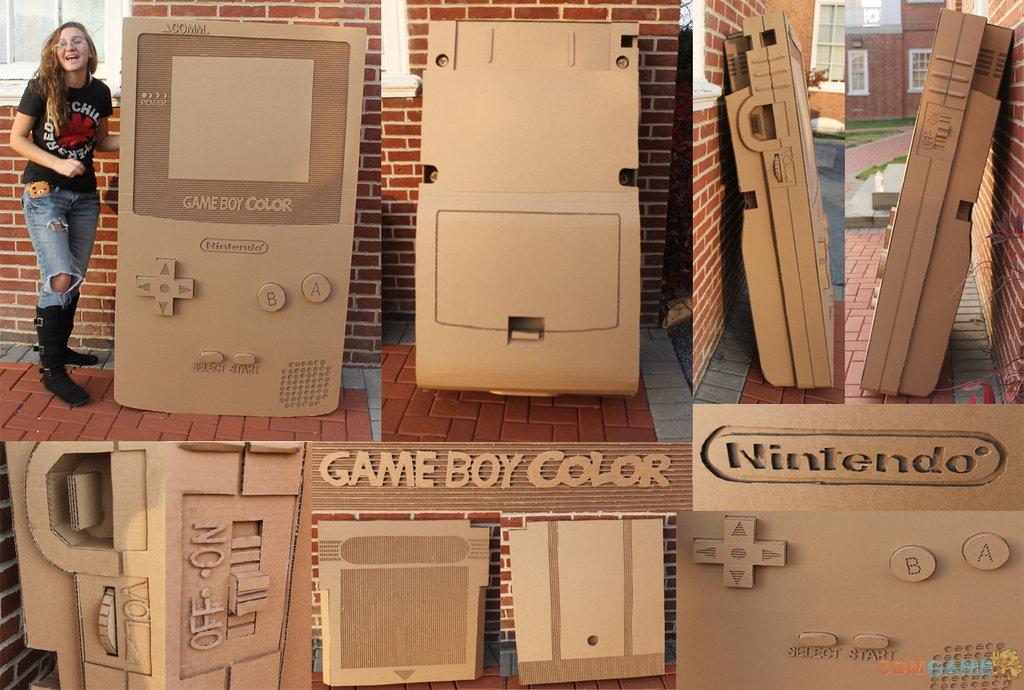 任天堂的一代经典掌机Game Boy相信带给了玩家无数美好的童年回忆,国外有爱的粉丝近日制作了一个纸质的Game Boy游戏机模型(还是彩版的哦!),高度还原了原机,仔细看不仅有logo,而且每个按钮都可以按哟,精细到连旁边还有音量滚轮。 图片欣赏: