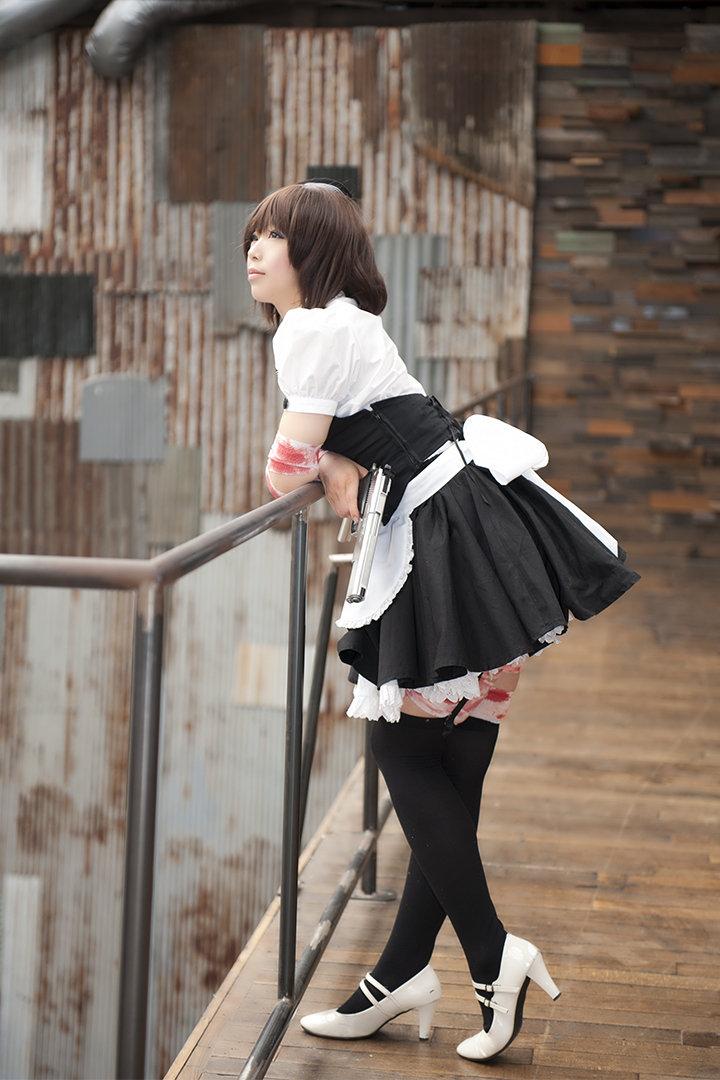 台湾第一美女_日本美女性感COS无下限 两把手枪显然不能满足她!_www.3dmgame.com