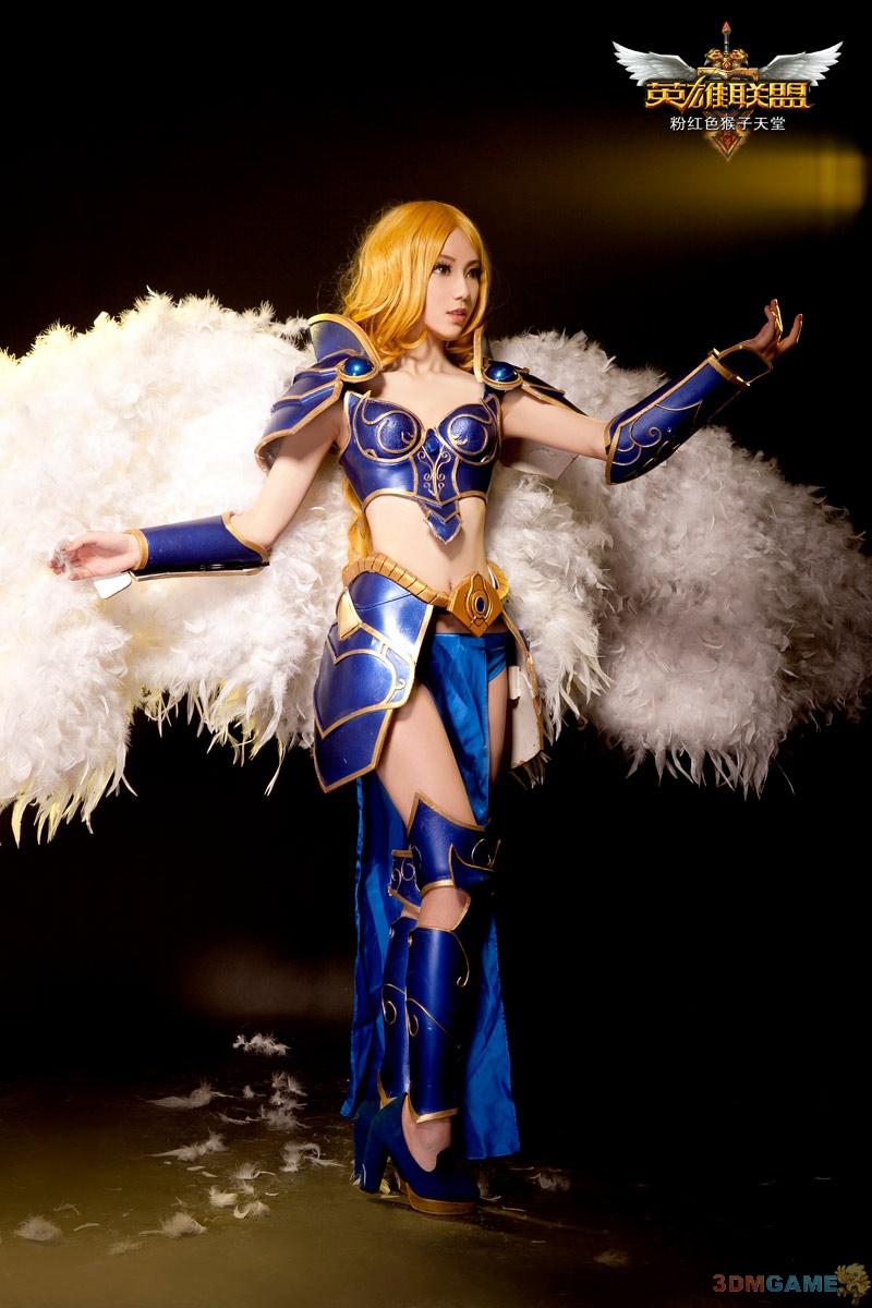 战场的女武神 粉猴《英雄联盟》审判天使cos欣赏