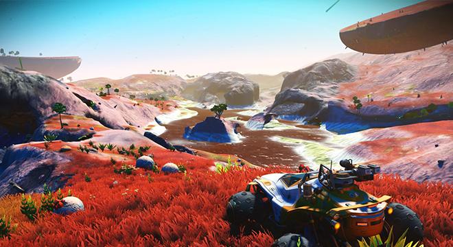 游戏画面大变化 玩家痴迷于《无人深空》新版草地