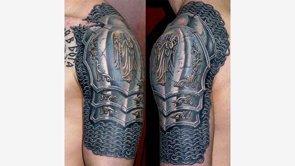 国外玩家盔甲纹身碉堡 这才是战斗民族的印记!