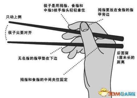 筷子的正确使用方法】这个必须要保存