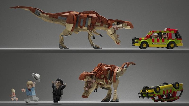 """""""上帝创造了恐龙,上帝毁灭了恐龙,上帝创造了人类,人类毁灭了上帝,人类创造了恐龙。""""人类也创造了《侏罗纪公园》主题乐高积木套装。《侏罗纪公园》上映20周年之际,一位死忠粉丝力图让他的《侏罗纪公园》乐高积木套装进入官方套组。 本套乐高积木包括了""""侏罗纪公园""""大门,旅游车,三个小人,一只大恐龙。图片是由3D软件生成的。为了让乐高同意这个项目,制作者正在收集1万个支持者签名。 想要在乐高官方积木套装中看到这套《侏罗纪公园》吗?可以点这里凑热闹。      更多精彩"""