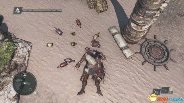 刺客教條4:黑旗接聖殿騎士鑰匙最後一個任務的坐標
