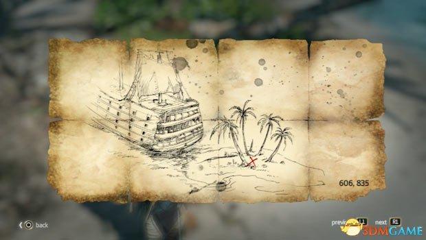 刺客教條4:黑旗藏寶圖寶藏位置座標大地圖附視訊