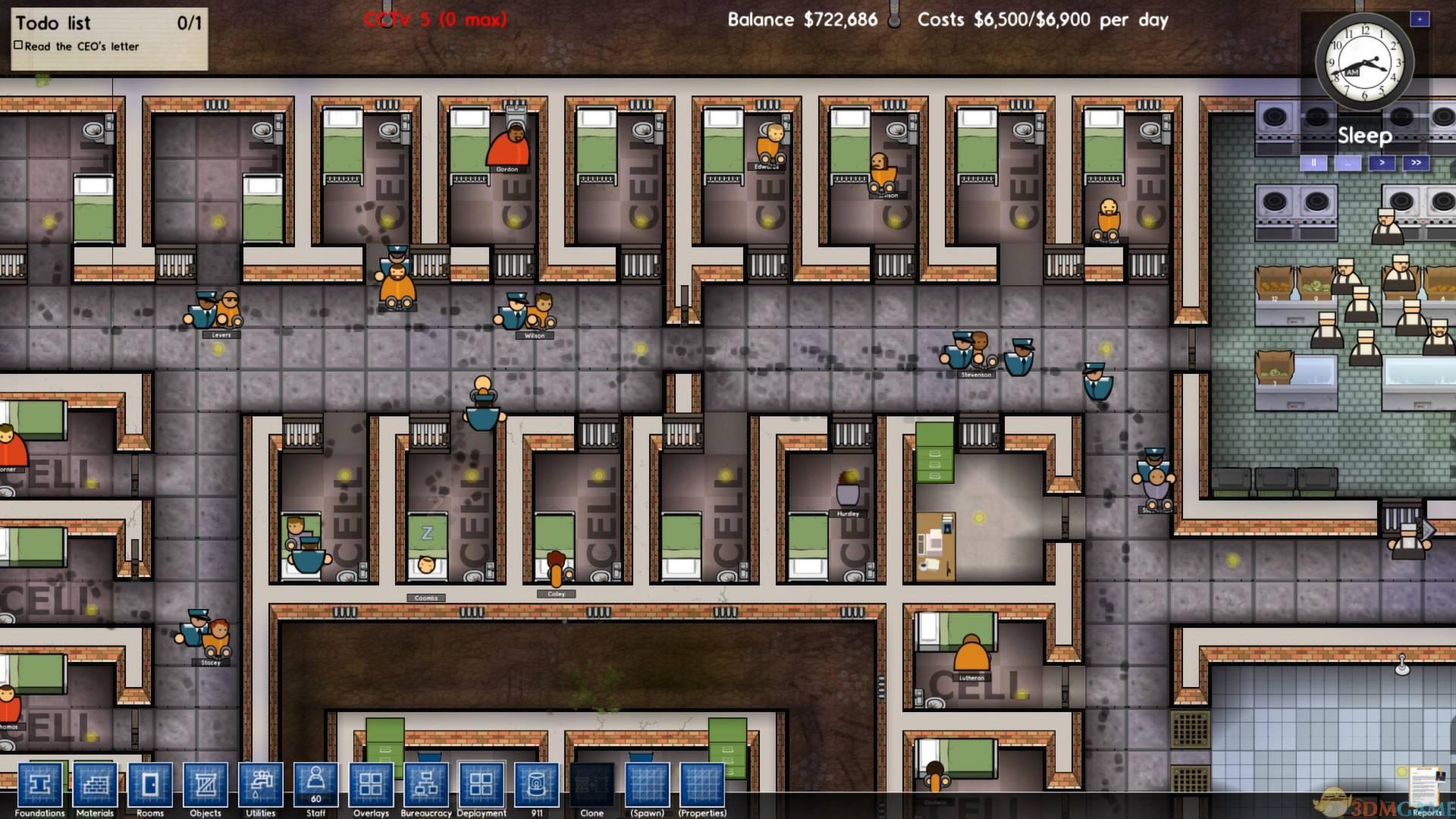 监狱建筑师游戏界面介绍游戏图标解析 Www 3dmgame Com