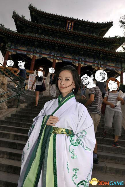 青岛农业大学校园汉服女神 清纯动人如同仙女下凡