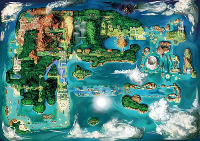 《口袋妖怪》红/蓝宝石重制版视频 黑暗岛屿出现