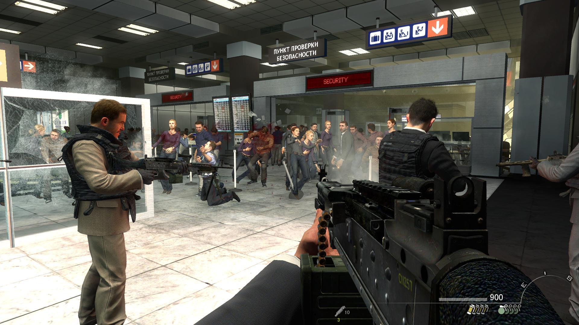 来到以扎卡耶夫命名的飞机场,无差别的突袭正在机场候机的平民,在横飞
