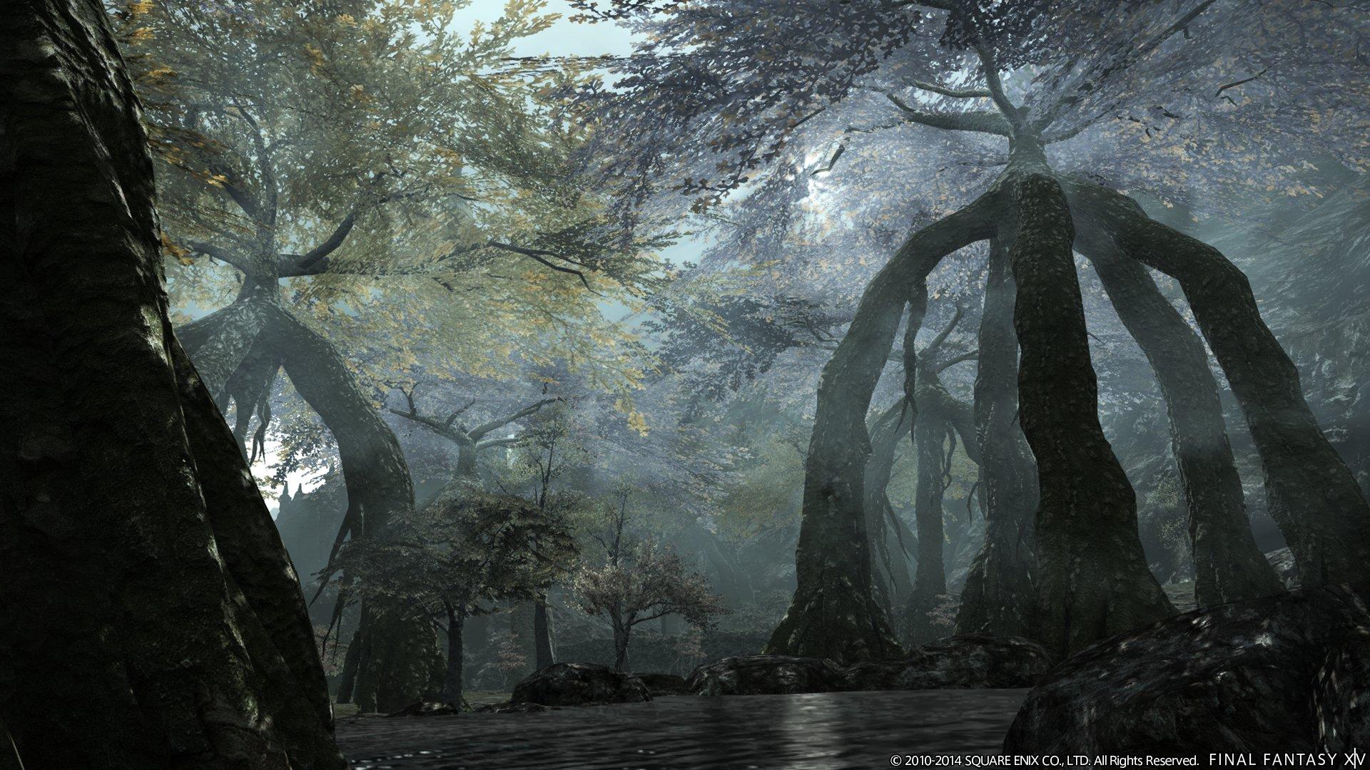 """《最终幻想14》资料片""""天堂绿荫""""原画"""