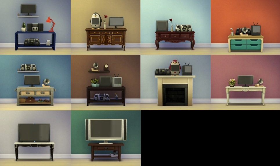 模拟人生4 功能性mod电子产品可以放在柜子或架子上