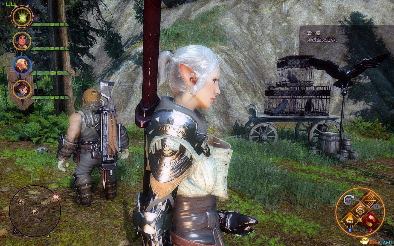 龙腾世纪双手剑_龙腾世纪3审判精灵妹子存档双手剑女战士及法