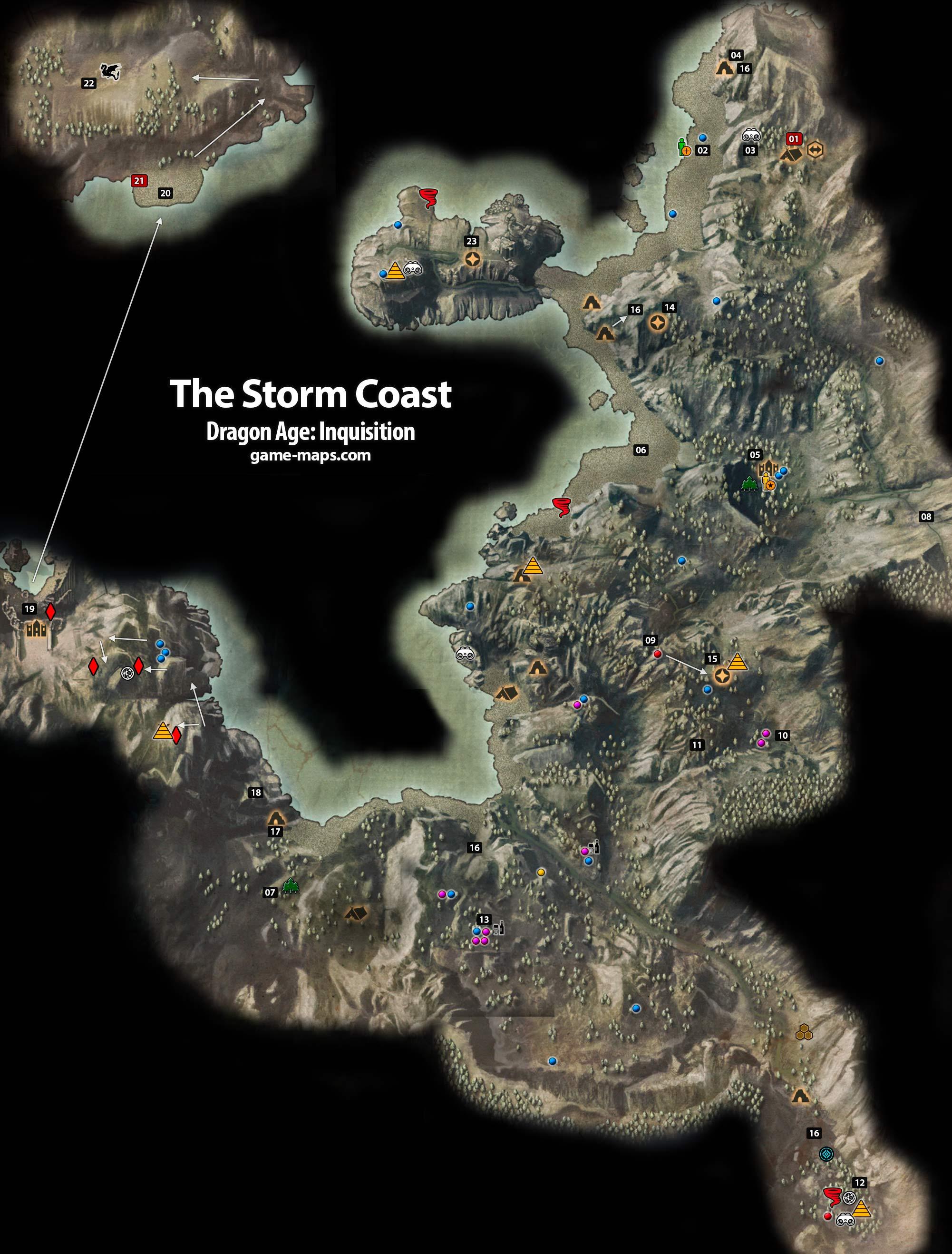 龙腾世纪3:审判全物品材料道具收集品要素地图攻略 Www 3dmgame Com