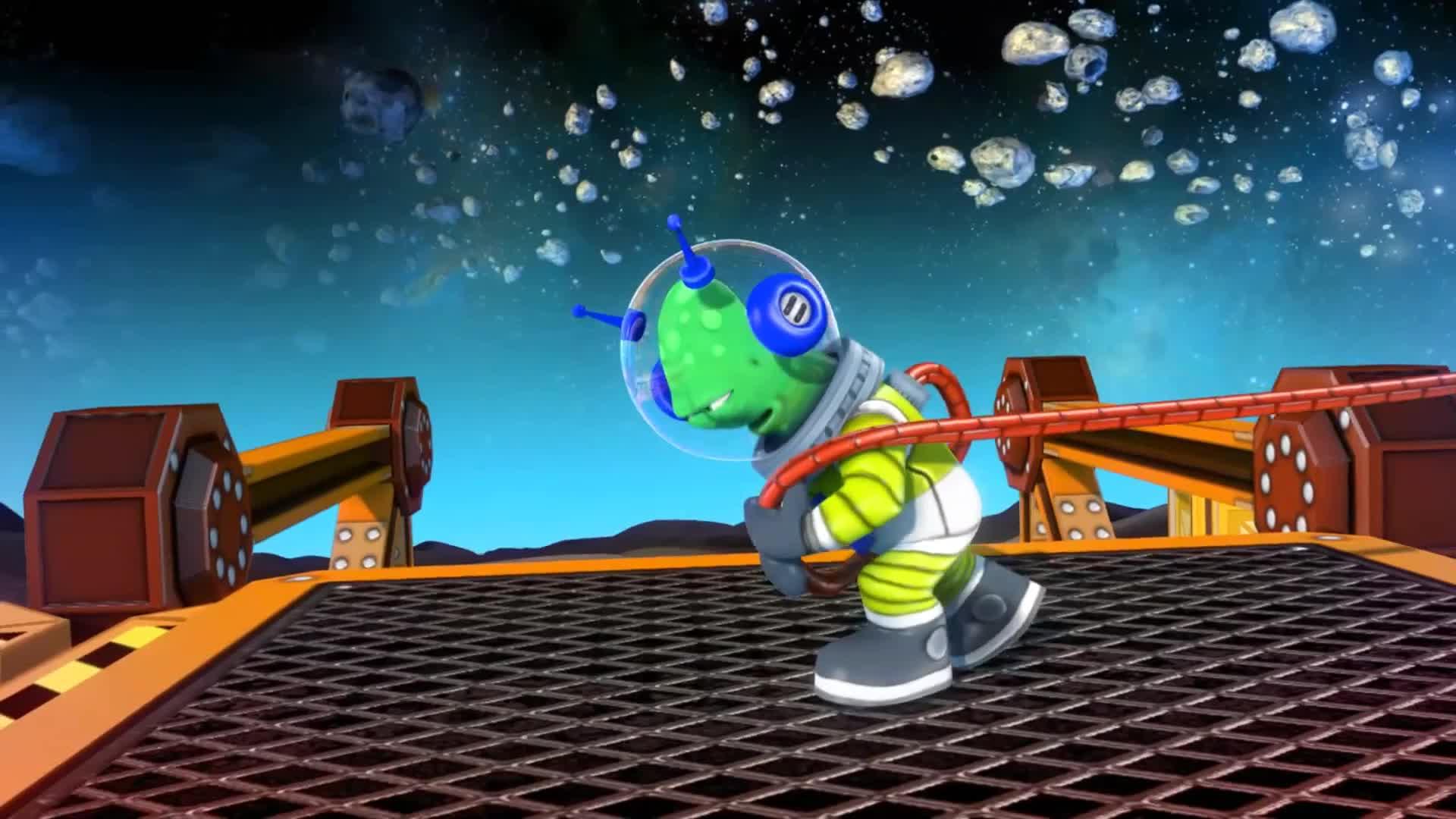 可爱太空游戏logo