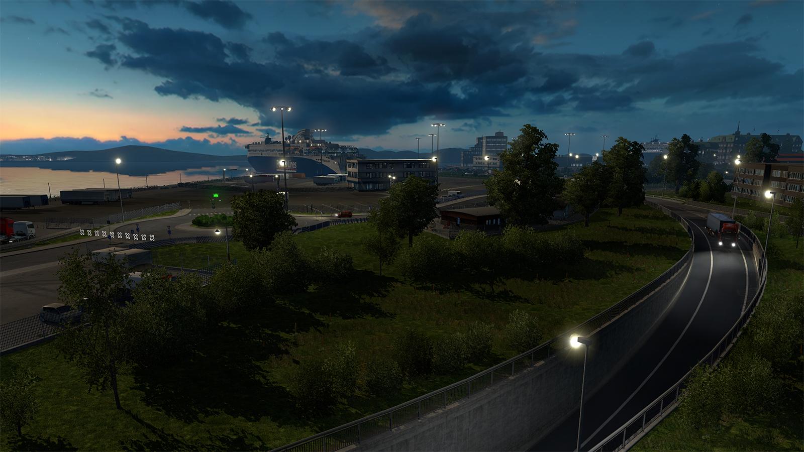 《欧洲卡车模拟2》斯堪的纳维亚半岛dlc新截图