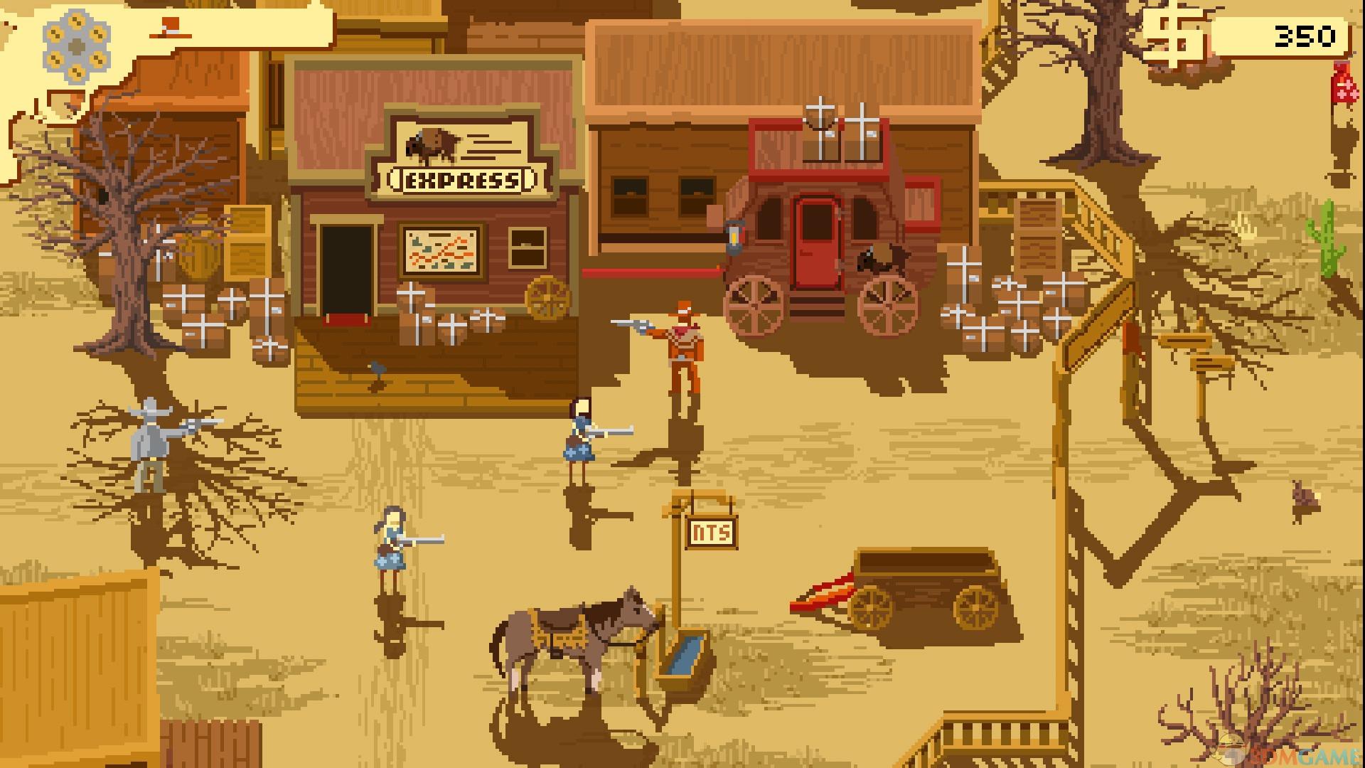 《西部正义:双管猎枪(Westerado: Double Barreled)》是一款由Ostrich Banditos制作、Adult Swim Games发行的动作冒险游戏。游戏讲述了一位牛仔在壮美的夕阳下过着平静的生活,追赶一头逃散的野牛。等他骑牛凯旋时,夜幕已经悄然降临。突然,眼前亮起一片冲天火光。他跳下牛背冲向农庄,却发现燃烧的家园、死去的母亲和重伤的亲人。主角从垂死的哥哥手中接过沉甸甸的左轮枪,心中烙上凶手的第一条线索,跨上叔叔的骏马。于是一场混杂着酒精、金钱、愤怒的复仇之旅就此展开。