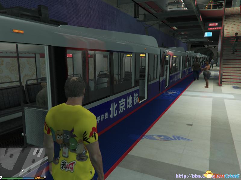 侠盗猎车5GTA5PC版贴图MOD地铁站中国风广告MOD www.3dmgame图片