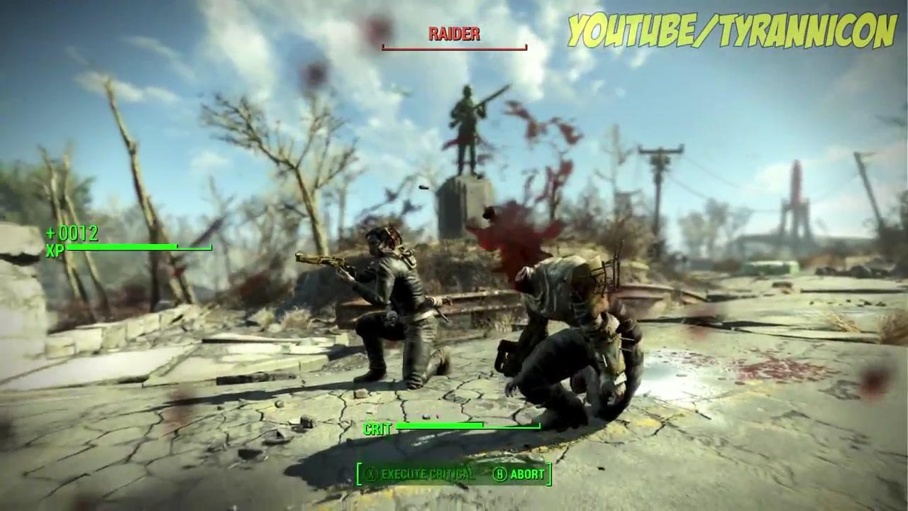 """MOD制作者通常都是为游戏添加道具和武器,不过今天有MOD制作者在《辐射4》(Fallout 4)中找到了一把隐藏的水下枪。MOD制作者xxdeathknight72xx在《辐射4》PC版代码中逐一搜索,找到了这把鱼叉枪。 这把秘密武器的名字重写为""""铁路来复枪"""",可以发射出一枚鱼叉,射穿敌人。武器发射动画是一串泡泡,可见原本设计可能就是专门在水下使用的。或许这意味着《辐射4》计划了水下战斗的内容?"""