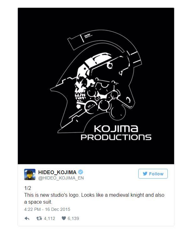 """小岛秀夫解释新工作室""""小岛制作""""新logo图片含义"""