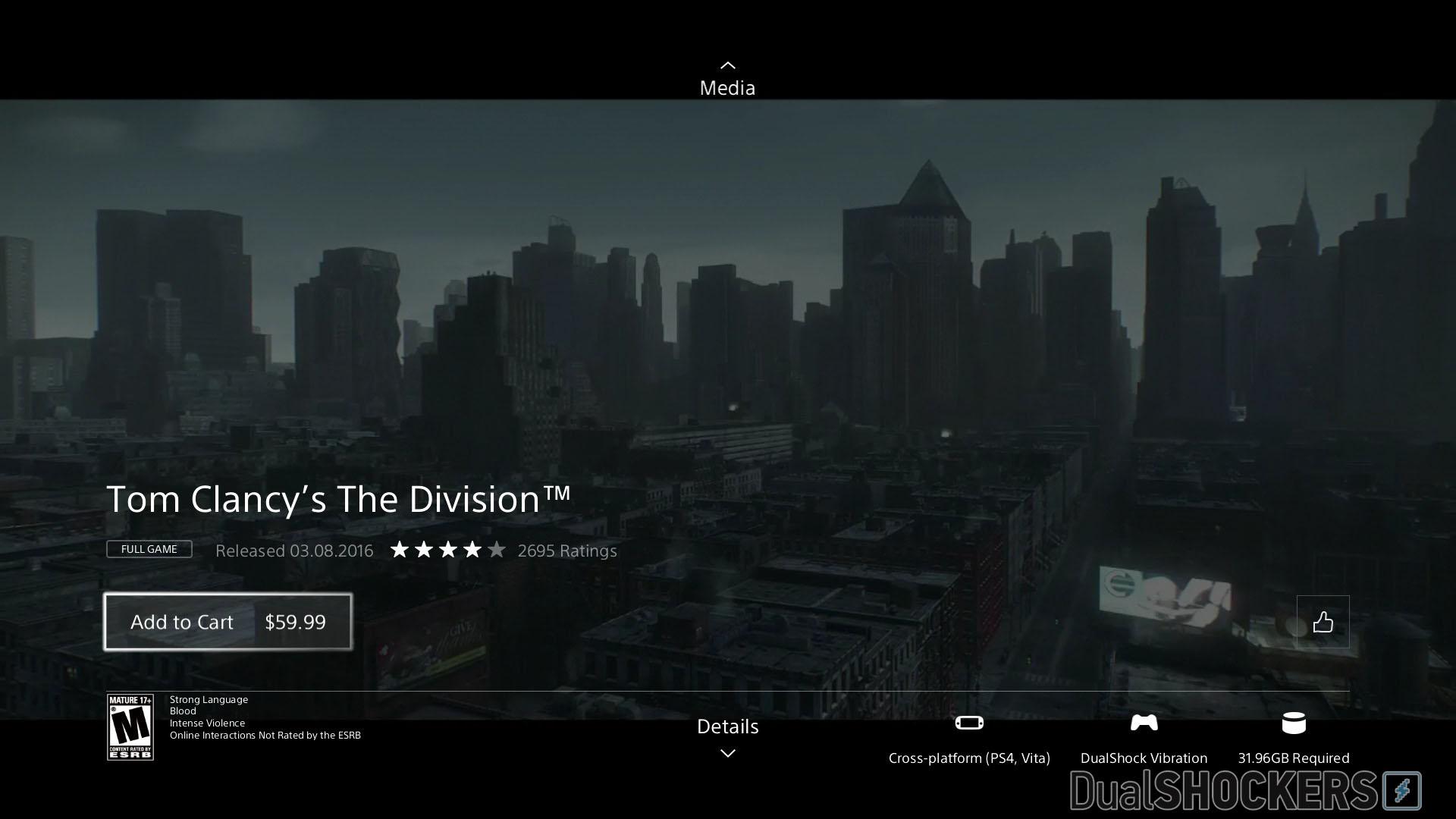 PS4商店新除了新上架的游戏外,今天商店也迎来了更新,索尼日前更新了商店页面,修订了一些内容,致力更好地宣传游戏。 每款游戏的特色和下载容量都更清晰地列出,高清预告片也会自动在背景画面播放。 每款游戏都有多个页面,你可以滚动自己的左摇杆控制或者触控板控制,从游戏主页面扩展到视频,细节,额外内容,捆绑内容,头像,主题和推荐内容。当然,不是所有游戏都包含如此完整的页面。有些游戏目前还没有主题或头像。 消息更新:这些新页面又被下掉了,之前版本的页面重新上架。显然是索尼没准备好,发布早了,没有在第一时间准备好就