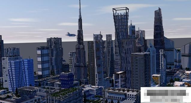 我的世界城市存档_我的世界1.8.9UIE城市地图存档 非常壮观的城市景色_www.3dmgame.com