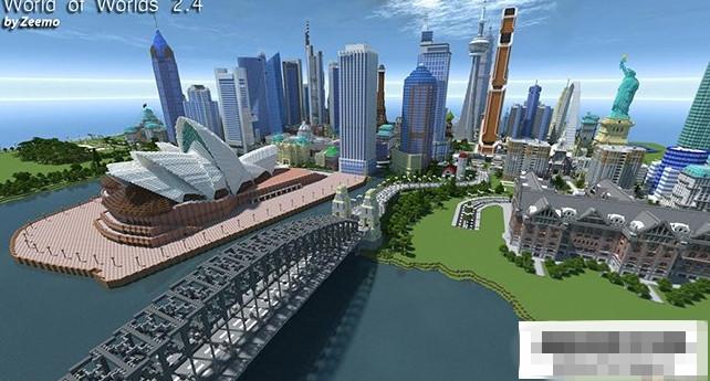我的世界城市存档_我的世界1.8.0世界之城地图存档 非常著名的建筑群_www.3dmgame.com