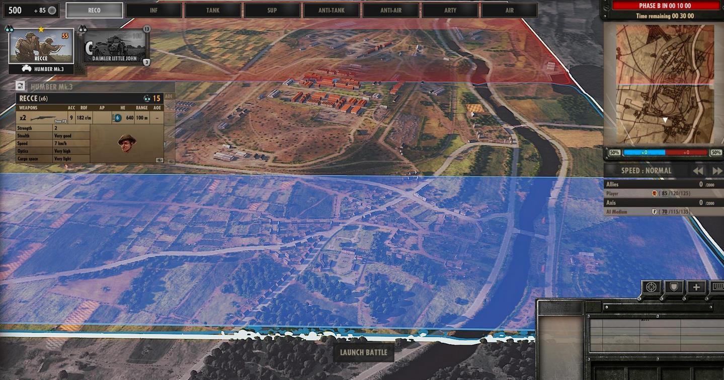畫面細節還是有的 【游戲特色】 不同于紅龍的區域爭奪玩法,本作在玩法上有很大的創新,采用的是戰線推進的玩法。紅藍雙方在地圖兩端開始推進,每一個區域都可能成為接戰點,你需要制定戰術,在不同的地點布置兵力,選擇推進或者防守。這需要對整個戰局有著很高難度的掌控。采用這種戰線推進的玩法,雖然帶來了實時的緊張感和刺激感,但也大大增加了新手操作的難度,由于這種戰線的玩法你也無法對敵人進行繞后或者包圍了。此外游戲不僅需要在大局面上進行宏觀的調兵遣將,還需要在局部的戰地內進行精細的微觀操作。新手想入門此類的RTS游戲還