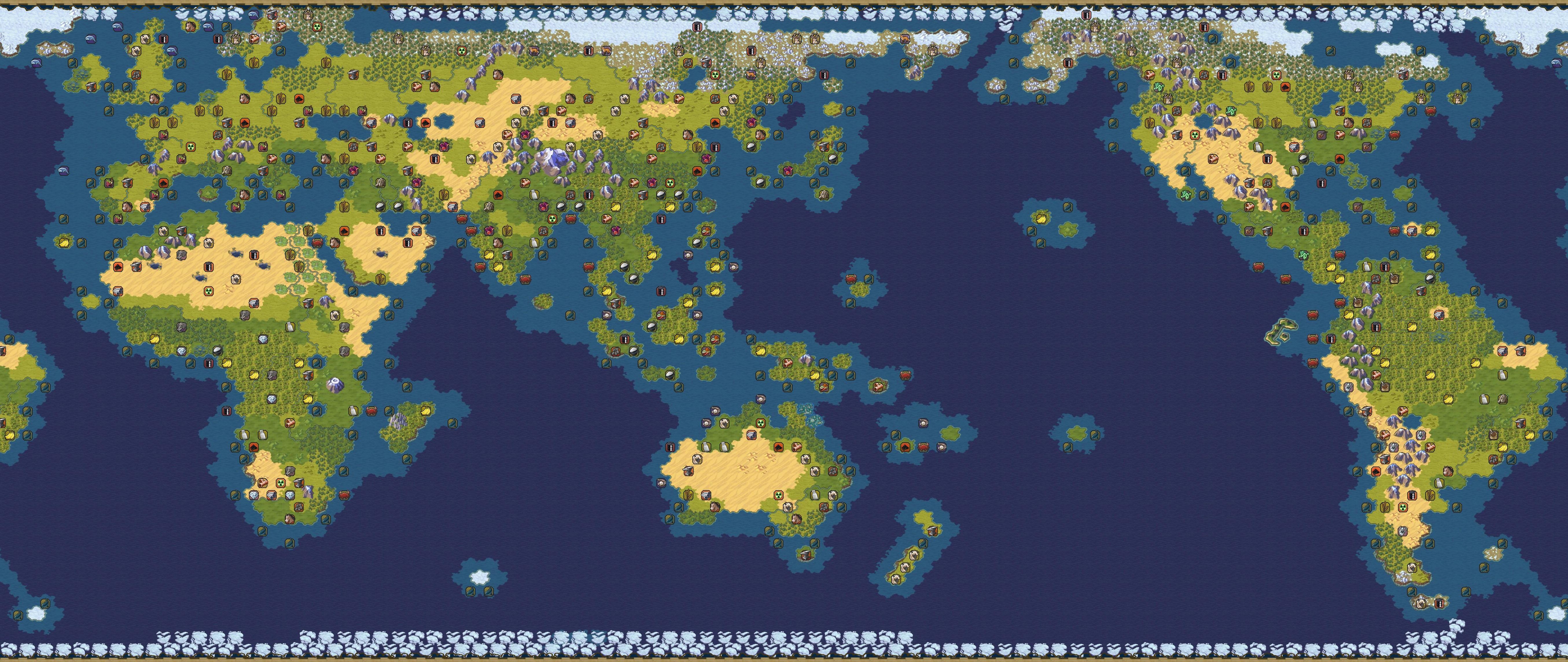 文明6官方真实全资源分布地图一览图片