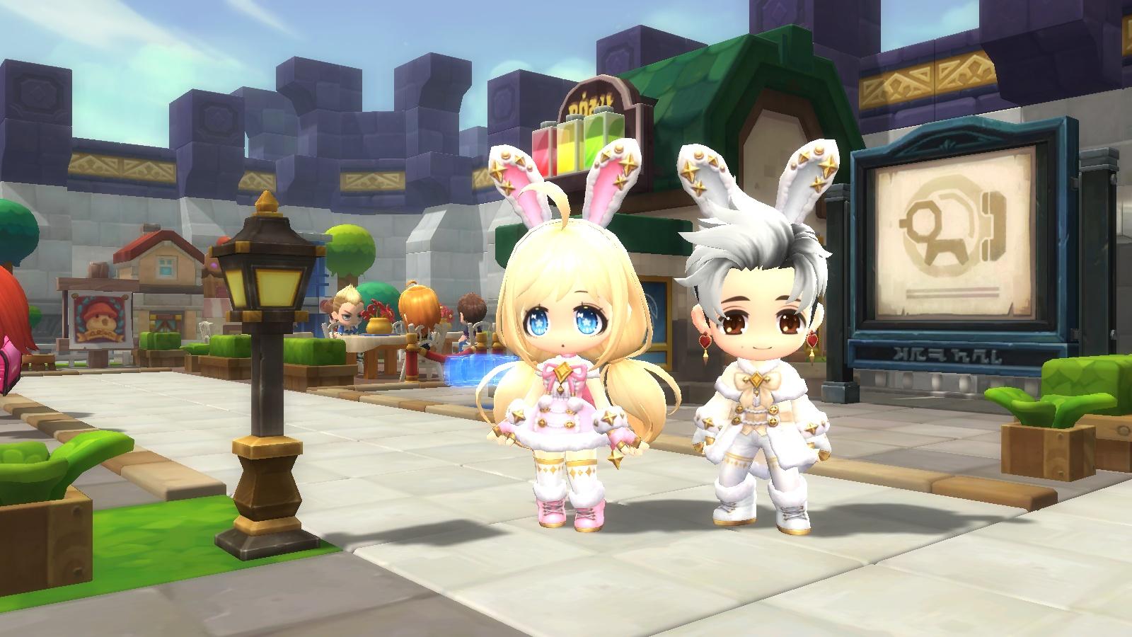"""游戏新闻  随着《冒险岛2》1月25日再次更新,全新""""星光兔子""""时装,""""胖"""