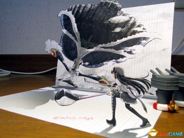 大触绘制精美3D立体画 纸片人老婆瞬间生动活泼